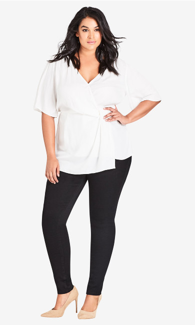 Women's Plus Size Highrise Skinny Regular Asha Jean