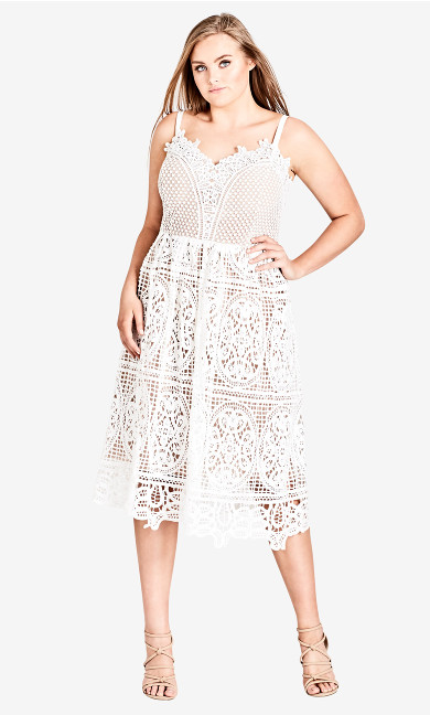 Women's Plus Size Fancy Free Dress - Ivory