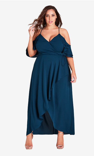 Women's Plus Size Miss Jessica Maxi Dress - Emerald
