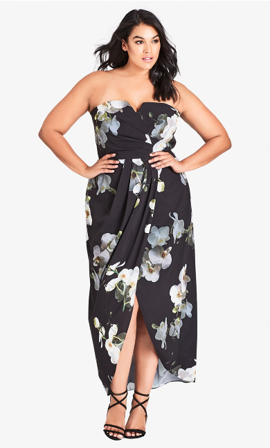 Women's Plus Size Orchid Dreams Maxi Dress