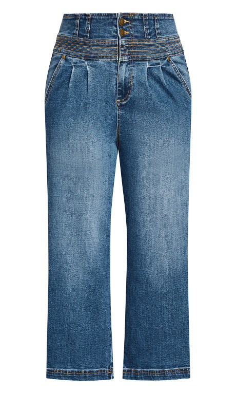 City Chic Womens Apparel Womens Plus Size Jean Harley Rivetted