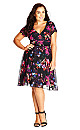Orchid Floral Fit & Flare Dress