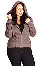 Girly Rouched Hoodie