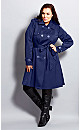Colored Corset Back Trench Coat