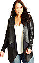 Pleather Drape Jacket