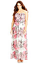 Graphic Floral Maxi Dress