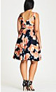 Tulip Printed Fit & Flare Dress
