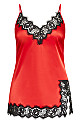 Plus Size Stella Satin Chemise - red