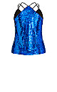 Plus Size Glimmer Top - electric blue