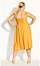 Plus Size Button Cheer Dress - gold