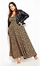Plus Size Cheetah Maxi Dress - cheetah