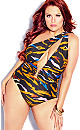 Plus Size Amara Animal 1 Piece - animal print