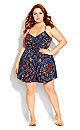 Fiery Bloom Playsuit - Blue