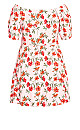 Plus Size Floral Botanica Dress - pink