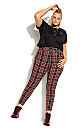 Plus Size Harley Check Skinny Jean - red