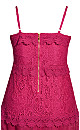 Plus Size Nouveau Lace Dress - fuchsia