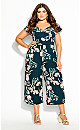 Plus Size Fresh Field Jumpsuit - jade