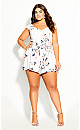 Plus Size Lotus Lust Playsuit - ivory