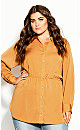 Plus Size Rouche Love Tunic - orche