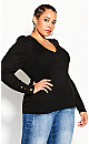 Plus Size Rebel Rock Jumper - black