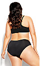Plus Size Smooth & Chic Front Close T-Shirt Bra - black