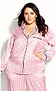 Plus Size Sophia Sleep Shirt - blush