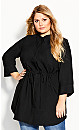Plus Size Sophisticated Shirt - lack