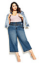 Plus Size Harley Denim Culotte Jean - denim