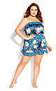 Plus Size Amy Playsuit - teal