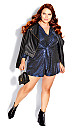Plus Size Glamour Playsuit - electric blue