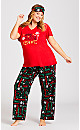 Plus Size Sing Sleep Set - red