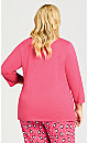 Plus Size Cold Outside Sleep Top - pink