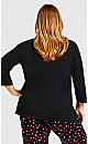 Plus Size Cold Days Top - black