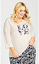 Plus Size Love Sleep Top - pearl