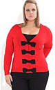 Contrast Bow Front Cardi