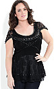 Women's Plus Size Top Romantic Salsa | City Chic USA