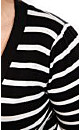 Stripe Monotone Shrug
