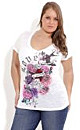Graffiti Rose Tattoo Top