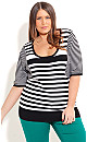 Monotone Stripe Sweater