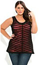 Sheer Stripe With Cami Top