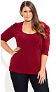 Colored Basic Puff Sleeve Top