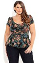 Tapestry Peplum Top
