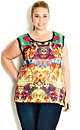 Rainbow Jungle Graffiti Top