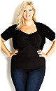 Bling Shrug - Black - 16 / S