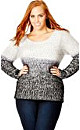 Fluffy Ombre Sweater