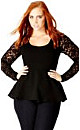 Sophisticated Lace Sleeve Top