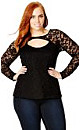 Long Sleeved Lace Corset Top