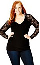 Basic Lace Sleeve Top