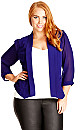 Colored Drapey Blazer Jacket - Iris - 22 / XL