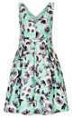 Women's Plus Size Quilted Roses Dress   City Chic USA